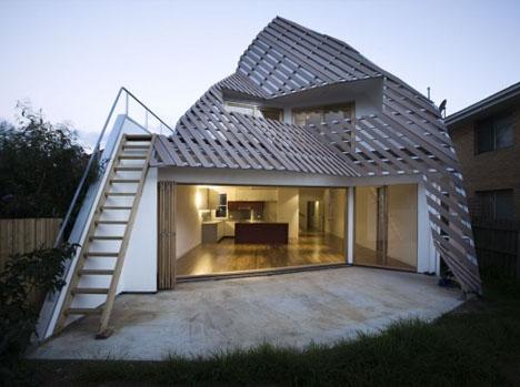 Угловой частный дом дизайн